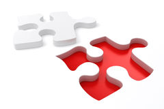 3d puzzle pieces. On white background Stock Images