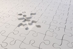 3d puzzle pieces. On white background Royalty Free Stock Photo