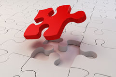 3d puzzle pieces Royalty Free Stock Images