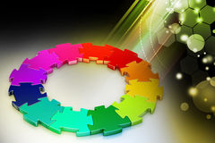3d puzzle ring Royalty Free Stock Photography