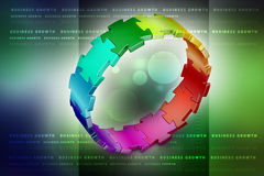 3d puzzle ring. In color background Royalty Free Stock Photography