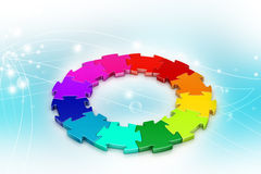 3d puzzle ring Stock Photography