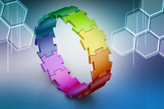 3d puzzle ring Royalty Free Stock Photos