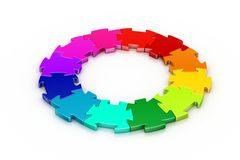 3d puzzle ring. In white background Royalty Free Stock Photo