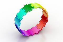 3d puzzle ring Royalty Free Stock Image