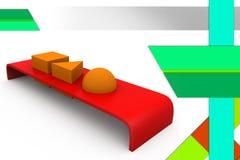 3d puzzle team  illustration Stock Photos
