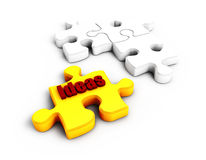3D puzzle on the white white background Stock Image