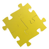 3d puzzles partnership Royalty Free Stock Image