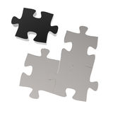 3d puzzles partnership Royalty Free Stock Photography