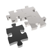 3d puzzles partnership. As concept Stock Photo