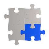 3d puzzles partnership Stock Photography