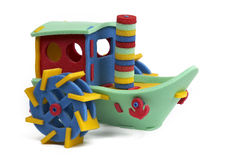 3D Puzzlespiel - Dampfboot Lizenzfreie Stockfotografie