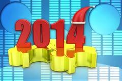 3d Puzzlespielillustration Weihnachten 2014 Lizenzfreie Stockfotos