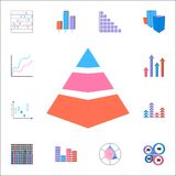 3D pyramid diagram icon. Detailed set of Charts & Diagramms icons. Premium quality graphic design sign. One of the collection icon. 3D pyramid diagram icon Stock Photography