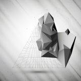 3D pyramide abstraite, calibre de vecteur pour des affaires Photo libre de droits