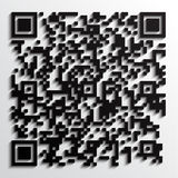 3d qr code with shadow. Illustration of fictive qr code picture with shadow Royalty Free Stock Photos
