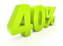 3D quarenta por cento Fotografia de Stock Royalty Free
