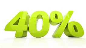 3D quarenta por cento Foto de Stock Royalty Free