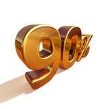 3d or 90 quatre-vingt-dix signes de remise de pour cent illustration stock