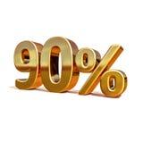 3d or 90 quatre-vingt-dix signes de remise de pour cent illustration de vecteur