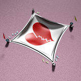 3d que cobre o coração Fotografia de Stock