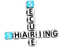 3D que compartilha de palavras cruzadas seguras Imagens de Stock