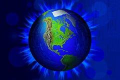 Tecnología global de la iluminación stock de ilustración