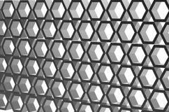 3d que hace el azul abstracto 3d interior con el panal en la pared Imagenes de archivo