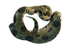 3D que rende a anaconda verde no branco Imagem de Stock