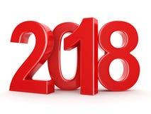 3D que rende 2018 dígitos do vermelho do ano novo Imagem de Stock Royalty Free