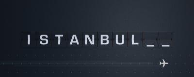 3D que rende Flip Board Capital Istambul ilustração stock