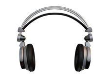 3D que rende fones de ouvido do DJ no branco Fotografia de Stock Royalty Free