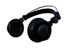 3D que rende fones de ouvido do DJ no branco Foto de Stock