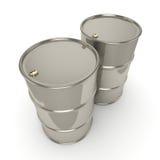 3D que rende muitos tambores do cromo Imagem de Stock Royalty Free