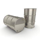 3D que rende muitos tambores do cromo Foto de Stock