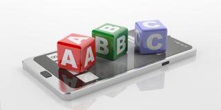 3d que rende o ABC em uma tabuleta Fotografia de Stock Royalty Free