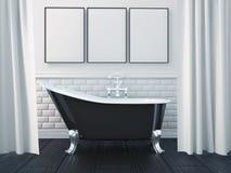 3d que rende o interior de um banheiro Imagens de Stock Royalty Free