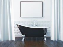 3d que rende o interior de um banheiro Foto de Stock