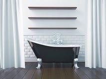 3d que rende o interior de um banheiro Imagem de Stock Royalty Free