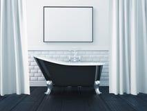 3d que rende o interior de um banheiro ilustração do vetor