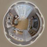 3d que rende o panorama sem emenda da sala de visitas Fotos de Stock Royalty Free