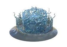 3D que rende o respingo abstrato da água no branco Fotografia de Stock
