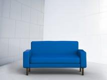 3d que rende o sofá azul Imagens de Stock