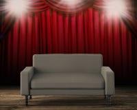 3d que rende o sofá cinzento Imagens de Stock