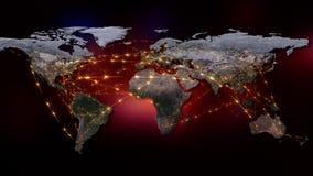 3D que rende o sumário da rede do mundo, do Internet e do conceito global da conexão Elementos desta imagem fornecidos pela NASA Fotos de Stock Royalty Free