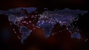 3D que rende o sumário da rede do mundo, do Internet e do conceito global da conexão Elementos desta imagem fornecidos pela NASA Imagens de Stock Royalty Free