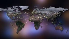 3D que rende o sumário da rede do mundo, do Internet e do conceito global da conexão Elementos desta imagem fornecidos pela NASA Foto de Stock Royalty Free