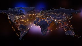 3D que rende o sumário da rede do mundo, do Internet e do conceito global da conexão Elementos desta imagem fornecidos pela NASA Imagens de Stock