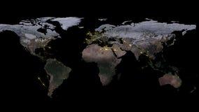 3D que rende o sumário da rede do mundo, do Internet e do conceito global da conexão Elementos desta imagem fornecidos pela NASA Foto de Stock