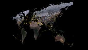 3D que rende o sumário da rede do mundo, do Internet e do conceito global da conexão Elementos desta imagem fornecidos pela NASA Imagem de Stock